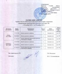 группа №141-19-Вн подготовка водителей на право управления механическим транспортным средством категории B